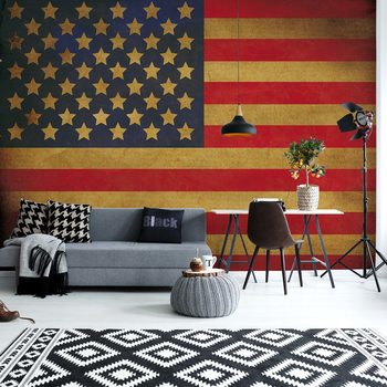 Vintage Flag Usa America Valokuvatapetti