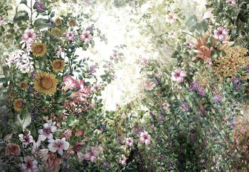 Vintage Floral Painting Valokuvatapetti