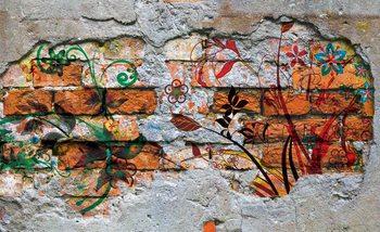 Wall Graffiti Street Art Valokuvatapetti