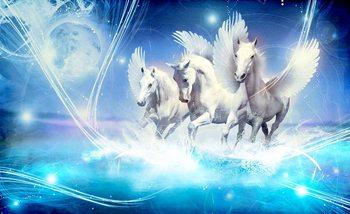 Winged Horse Pegasus Blue Valokuvatapetti