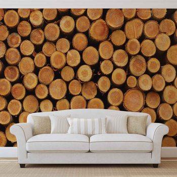 Wood Texture Logs Nature Valokuvatapetti