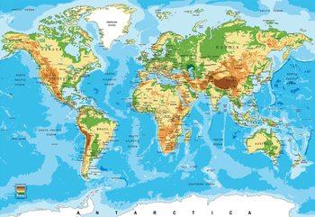 World Map Atlas Valokuvatapetti