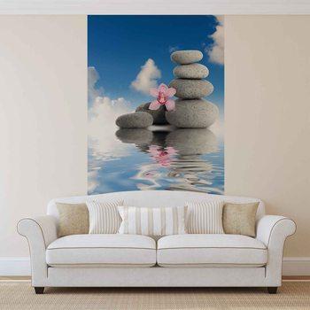 Kuvatapetti, Tapettijuliste Zen Water Stones Orchid Sky