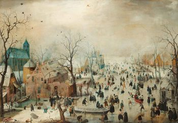 Lasitaulu Winter Landscape With Skaters, Hendrick Avercamp