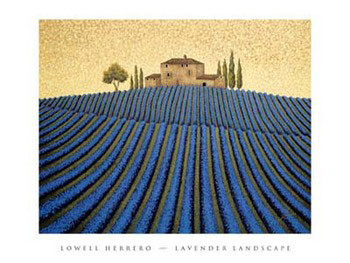 Lavender Landscape Reproduction d'art