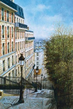 Les Etapes De Montmartre Reproduction d'art
