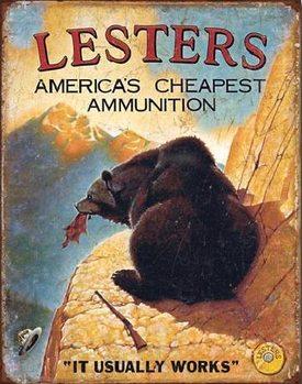LESTER'S AMERICA'S CHEAPEST Plaque métal décorée
