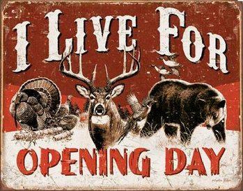 Live For Opening Day Plaque métal décorée