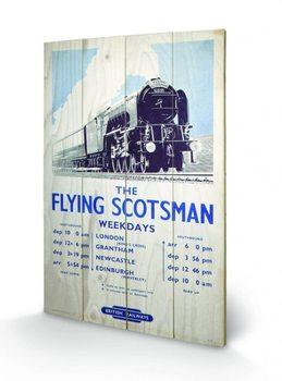 Locomotive à vapeur - The Flying Scotsman 2 Panneaux en Bois