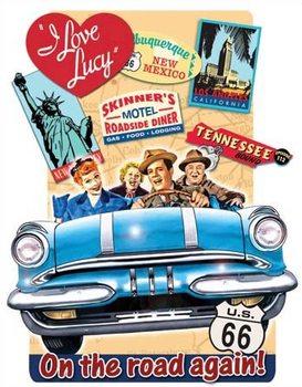 Lucy - On the Road Plaque métal décorée