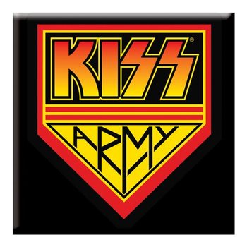 Kiss - Army Square Magnet