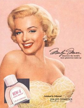 Marilyn Monroe New-U Plaque métal décorée