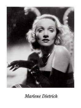 MARLENE DIETRICH Reproduction d'art