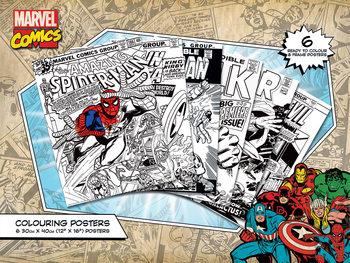 Väritysjuliste Marvel Comics - Covers