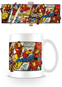 Caneca Marvel Retro - Iron Man Panels