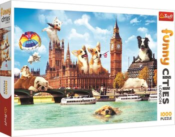 Puzzle Crazy City - Dogs in London