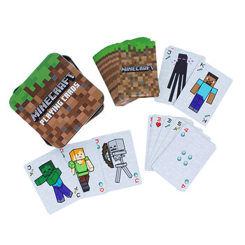 Jogando cartas - Minecraft