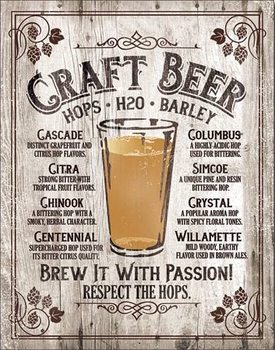 Metal sign Brew It - Passion
