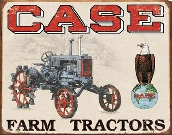 Metal sign CASE TRACTOR - cc high