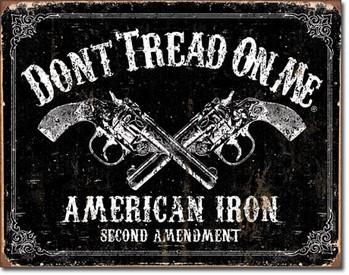Metal sign DTOM - american iron