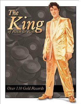 Metal sign ELVIS PRESLEY- Gold Lame' Suit