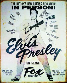 Metal sign ELVIS PRESLEY - vintage