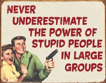 Metal sign EPHEMERA - Stupid People