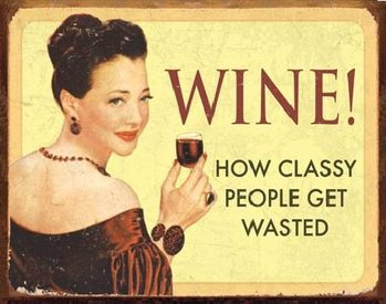 Metal sign EPHEMERA - WINE - For Classy People