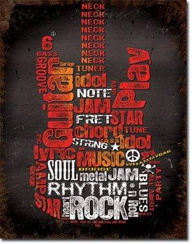 Metal sign Guitar Inspiration