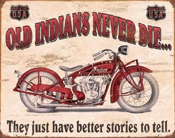 Metal sign INDIAN - better stories