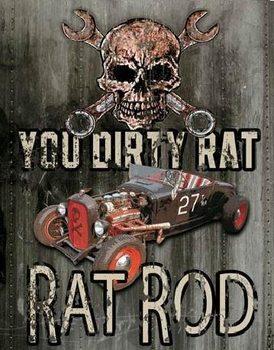 Metal sign LEGENDS - dirty rat