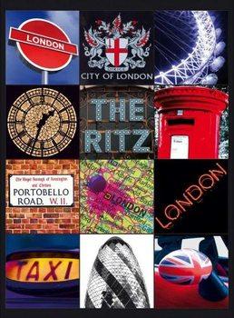 Metal sign LONDON COLLAGE 2
