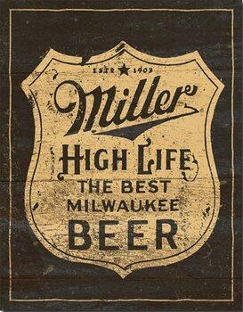 Metal sign Miller - Vintage Shield