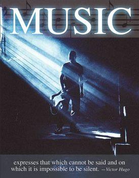 Metal sign Music - Victor Hugo