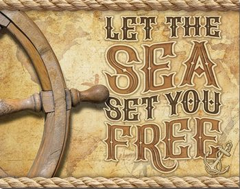 Metal sign Sea - Set You Free