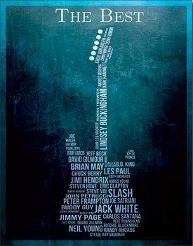 Metal sign The Best - Guitarists