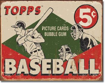 Metal sign TOPPS - 1955 Baseball Box