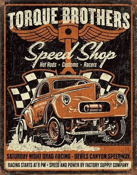 Metal sign Torque Bros - Gasser