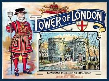 Metal sign TOWER OF LONDON