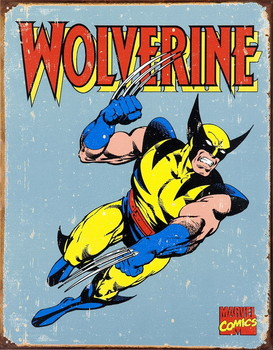 Metal sign VINTAGE WOLVERINE