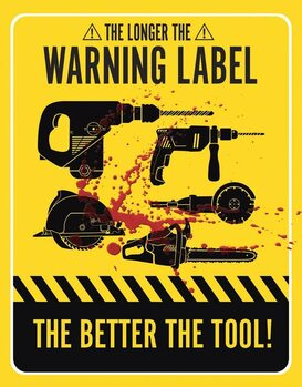 Metal sign Warning Labels