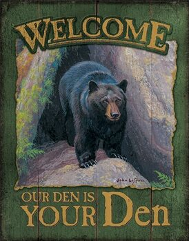 Metal sign Welcome to Your Den