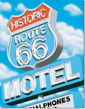 A.ROSS - route 66 motel Metal Sign