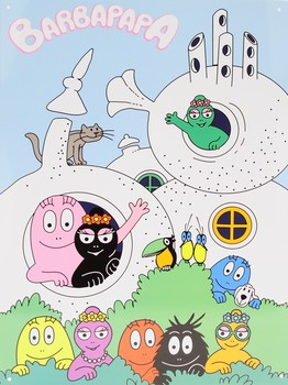 BARBAPAPA Metal Sign