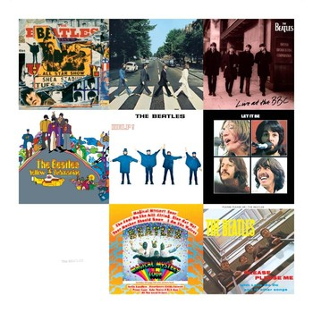 BEATLES COLLAGE 1 Metal Sign