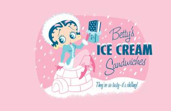 BETTY'S ICE CREAM SANDWITCH Metal Sign