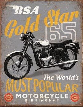 BSA - '65 Gold Star Metal Sign