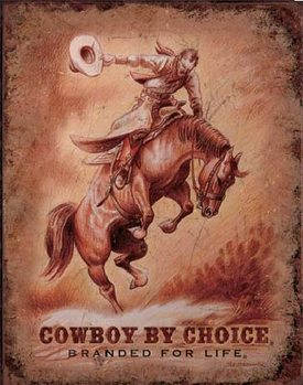 CBC - SADDLE BRONC - Saddle Bronc Metal Sign