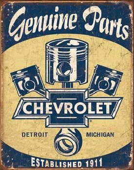 CHEVY PARTS - Chevrolet Pistons Metal Sign