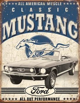 Classic Mustang Metal Sign